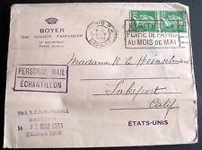 FRANCE ADV COVER BOYER SOCIETY PARFUMEUR 1933 & SLOGAN