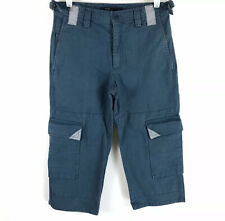 MARC JACOBS Mens Cargo Pants Ankle Cropped Wide Leg Blue Size 28