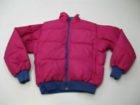 COLUMBIA Jacket Women's Size M Vintage Down Fill Blue/Pink Reversible Puffer