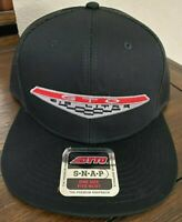 VINTAGE PONTIAC GTO 68-69 6.5 GOAT MUSCLE CAR LOGO PATCH TRUCKER HAT BLACK NEW