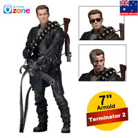 "NECA Terminator 2 Judgment Day T-800 Ultimate Deluxe Arnold 7"" Action Figure Toy"