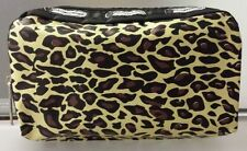 Leopard Print Hollywood Mirror Makeup Pouch Waterproof Case Purse Toiletry Bag
