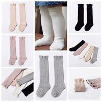 New Unisex Baby Toddler Girls Cotton Knee High Socks Tights Leg Warmer Stockings