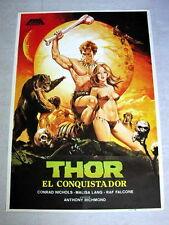THOR THE CONQUEROR Vintage FANTASY Movie Poster CONRAD NICHOLS Sexy MALISA LANG