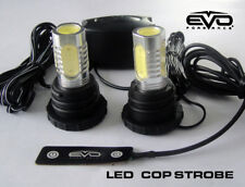 EVO Formance Universal LED Cop Strobe Light Headlight Kit Red for Car-Truck