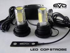 Evo Formance Universal Led Cop Strobe Light Headlight Kit Red For Car Truck