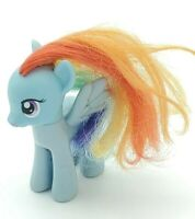 "G4 Hasbro 2010 My Little Pony Rainbow Dash 3"" Blue Pegasus Brushable"