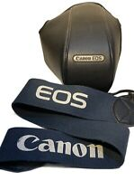 CANON EOS 1000QD SLR Film Camera EF 35-80mm 1:4-5.6 Zoom Lens Hard Case + Strap