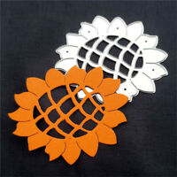 Cute Sunflower Design Metal Cutting Dies For Scrapbooking Card Craft Decor U_ti