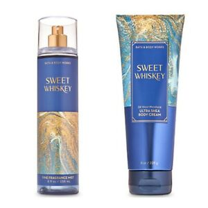Bath and Body Works SWEET WHISKEY Fine Fragrance Mist and Body Cream