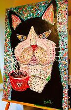 New Orleans CAT DU MONDE- ORIGINAL PAINTING- EDWARDS - 36X24 X-LG ART