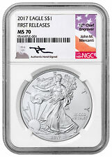 2017 American Silver Eagle NGC MS70 FR Mercanti Signed Label SKU44398