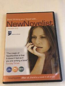 New Novelist PC XP Vista Version 2 Book Editing Writing  Software Creativity
