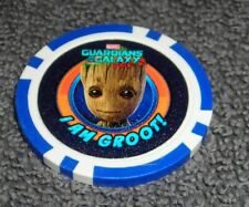 MARVEL GUARDIANS OF THE GALAXY BABY GROOT SOUVENIR COLLECTIBLE POKER CHIP