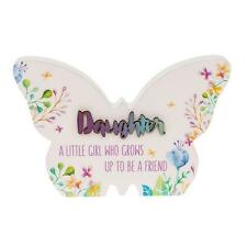 Daughter Gift - Floral Butterfly Colourful plaque with sentiment 66255