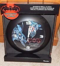 1997 BATMAN & ROBIN WESTCLOX  WALL CLOCK BRAND NEW! - RARE FIND - FREE SHIPPING