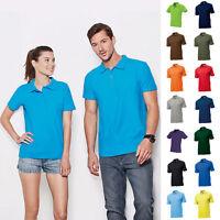 2 x Herren Mann Poloshirt Polo Polohemd Shirt Pique Stedman Baumwolle 2er Set