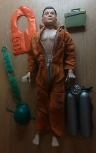 VINTAGE Mintex Action Man knock off with accessories made in Hong Kong