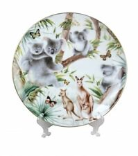 Australian Wildlife Plates Round Plate w Stand 26cm w Box Souvenir Gift Koala