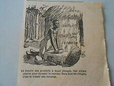 Le moulin des primitive Congo kasai with a simple stone cassava image print 1928