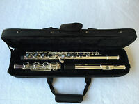 Professional 17 open hole silver plated flute E key B Foot