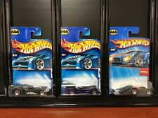 HOT WHEELS 2004 FIRST EDITIONS BATMOBILE LOT OF 3 NEW UNOPENED