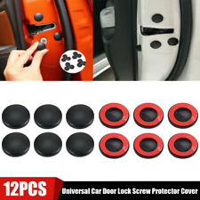 12x Universal Car Auto Accessories Interior Door Lock Screw Protector Cover Trim