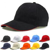 Hat Fashion Summer Black White Pink Unisex Adjustable Baseball Curved Caps