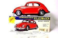 VINTAGE VOLKSWAGEN BEETLE NEAR MINT JAPANESE BATTERY OPERATED W/BOX