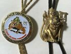 Two Vintage SHRINERS Bolo Ties -- Rare and Collectable Fraternal Items  02-148