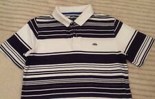 Mens ECKO UNLTD Polo shirt / T-Shirt, Blue & White Stripe, Short Sleeve, Size: S
