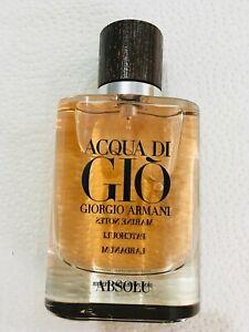 AQUA Acqua Di GIO ABSOLU By Giorgio Armani EDP 2.5 oz 75 ML Cologne for Men