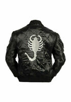RYAN GOSLING SLIM FIT TRUCKER SCORPION MENS SATIN STYLISH JACKET DRIVE MOVIE