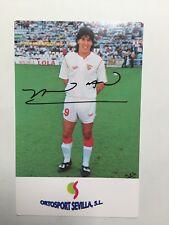 Autogramm IVAN ZAMORANO-FC Sevilla-NS Chile-Ex-FC St.Gallen/Real Madrid/Inter M.
