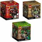 New Lego Minecraft 21102 21105 21106 The Forest, Village, Nether ALL 3! F/S