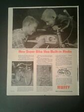 1955 HUFFY BICYCLE NEW SUPER BIKE BUILT-IN RADIO~SPORTSMAN~CONVERTIBLE TOY AD