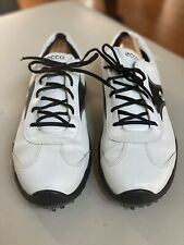 Ecco Black/White Leather Hydromax Golf Shoes Size 46 Mens 12 - 12.5