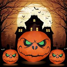 Halloween Decor Inflatable Pumpkin Garden LED Light Polyester Outdoor Indoor