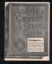 Audels Gardeners & Growers Guide 1940s Catalog Agriculture