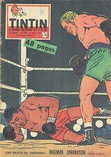 Journal de TINTIN / FRANCE / N°595 du 17 mars 1960 - INGEMAR JOHANSSON BOXE