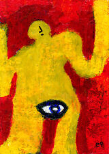 narrow focus e9Art ACEO Outsider Art Brut Expressionism Raw Intuitive LowBrow