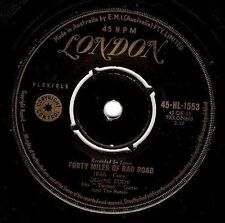 "DUANE EDDY Forty Miles Of Bad Road 7"" Single Vinyl Record Australian London 1959"