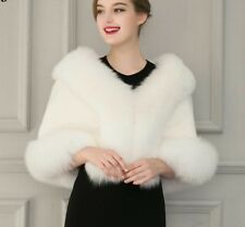 Warm Fur Cape Women's Elegant Wrap Cloak for Wedding Party Outwear Bridal Bolero