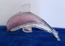 Pink Glass Dolphin120mm Long