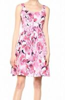 Pappagallo Women's Pink Size 6 Floral Eyelet  Printed A-Line Dress $79 #382