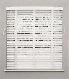 WHITE STANDARD FAUX WOOD VENETIAN WOODEN WINDOW BLINDS 50MM SLATS WITH TAPE NEW