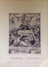 GRANADA.NUESTRA SEÑORA DE LAS ANGUSTIAS, litografía original de Turgis,1844-1855