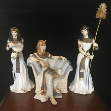 3 Royal Worcester The Court Of Tutankhamun Completed SET with Certificate 🤩