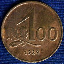 AUSTRIA 100 KRONEN 1924 Spl XF #541A