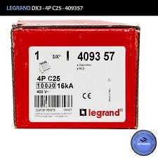 LEGRAND 409357 Disjoncteur DX3 4P-C25 // NEW - FULLY FUNCTIONAL ***MAKE OFFER***
